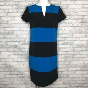 NY&Co black & blue color block dress, NWT, Medium